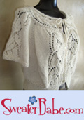 FLutter Sleeved BLousy Top-down Cardigan Knitting Pattern