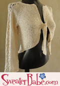 knitting pattern link to high low glamorous cardigan