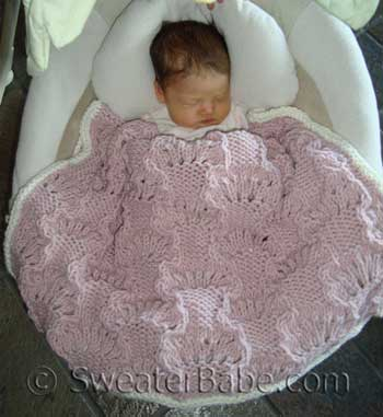 Easy Lace Baby Blanket Knitting Pattern : KNITTING PATTERNS-BABY BLANKETS 1000 Free Patterns