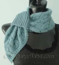knitting pattern for divine pull-through scarflette