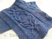 knitting pattern photo for luxe cabled blanket