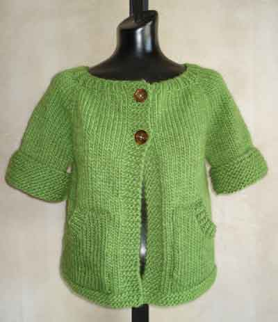 Free Knitting Pattern Short Jacket : FREE KNITTING PATTERNS SHORT SLEEVE JACKET   KNITTING PATTERN